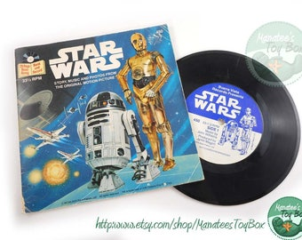 Vintage Star Wars Book and Record 1970s