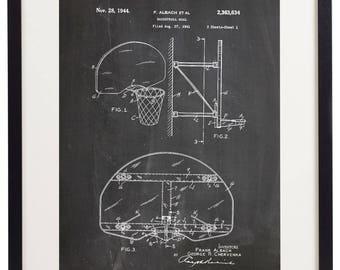 Set of 6 Prints Basketball Patent Vintage Home Decor Wall Art Print