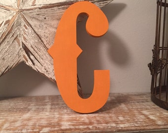 Hand-painted Wooden Letter C -  Wall Letters - Circus Font - Various sizes, finishes and colours