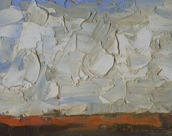 Oil Painting Original by John Shanabrook - 5 x 7 - Prairie Days
