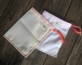 market bags, produce veggies fruit, eco friendly 2 pack RED drawstring // handmade from repurposed curtains / recycled food bags, bulk food
