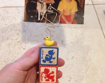 Huey Dewey and Louie vintage Disney photo holder frame Disney wedding gifts baby shower gifts
