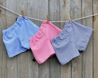 Toddler Gingham shorts or pants, LINED, many colors, thanksgiving, Easter...3m,6m,9m,12m,18m,2t,3t,4t,5,6,7,8,10,12