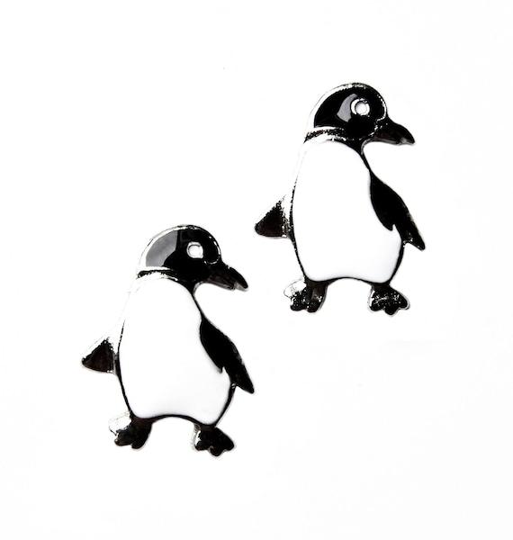 Penguin Cufflinks - Men's Jewelry - Gifts for Men - Accessories - Handmade