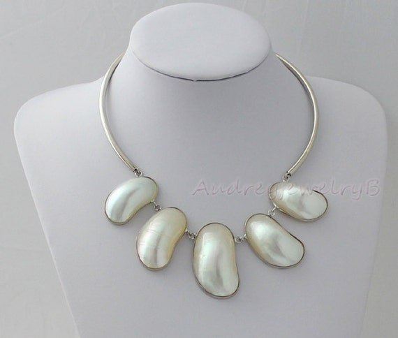 Abalone shells necklace  Abalone Jewelry -  Abalone Shell Necklace Pendant Wedding Jewellery,Chunky Necklace,Brides Pearls