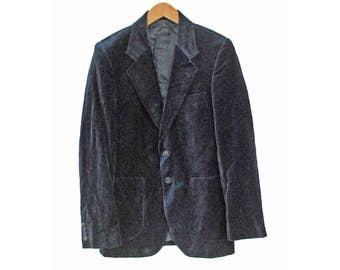 """Vintage Velvet Blazer Smoking Jacket - S 36"""" (26145)"""