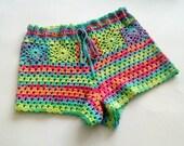 Crochet Shorts, Boho Shorts, Hippie Shorts, Lace Shorts, Beach Bikini Pantie, Summer Short Beachwear, Bikini Coverup, Beach Shorts, Teens