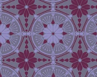 15083- Anna Maria Horner PWTC004 True Colors Medallion in Violet color- 1 yard
