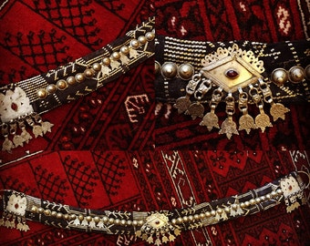 SALE - 20% OFF! Faux Assiut Tribal / Fusion Belly Dance Belt
