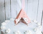 Teepee Cake Topper reserved for Amanda