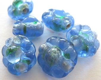 Givre Silver Foil Beads E299