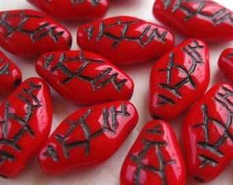 Red Japanese Latern Beads E386