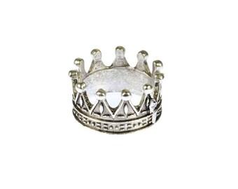 Crown Ring Miniblings Men's Ring Men Ring Ring crown silver 19mm