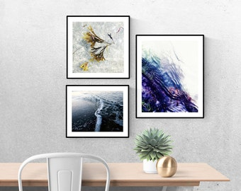 art prints // minimalist photography art // summer beach art prints - set of natural modern ocean photography prints (11x14, 10x10, 8x10)