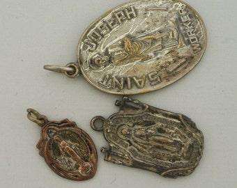 St Joseph and St Mary pendants