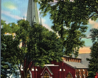 Bangor, Maine, St. Mary's Church - Linen Postcard - Vintage Postcard - Postcard - Unused (VV)