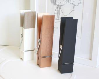 Giant Wooden Pegs, Wooden Peg, Desk Accessories, Clip, Pastel, Metallic, Monochrome