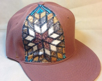 Steal your howling moon - patchwork fitted hat size 7 5/8