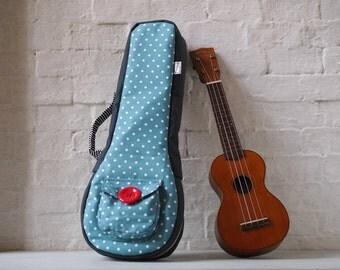 Soprano ukulele case - Polka dots Ukulele Case (Ready to ship)