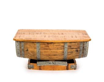 Half Wine Barrel Coffee Table