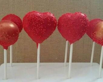 Burning love cake pops