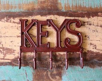 Wall Hooks, Key Rack, Key Hooks, Rustic Keys Hook, Farmhouse Style Chic, Keys Hanger, Fixer Upper Style, Wall Key Holder, Fixer Upper Market