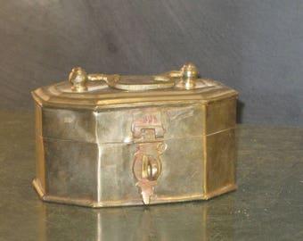 Vintage Small Brass Box