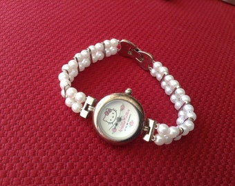 Hello Kitty vintage womens watch, 1995 bracelet decorative ladies watch