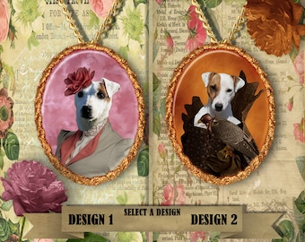 Parson Russell Terrier/Jack Russell Terrier Jewelry. Russell Terrier Pendant or Brooch. Russell Terrier  Necklace.Custom Dog Jewelry