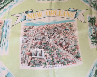 Vintage 1960's New Orleans Scarf