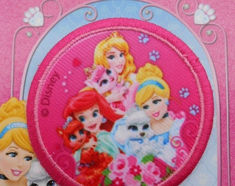 Disney Iron-on Embroidered Patch Princess Palace Pets