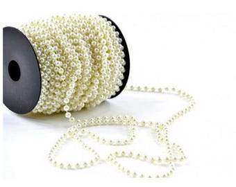 Pearls on String Ivory 5 yds
