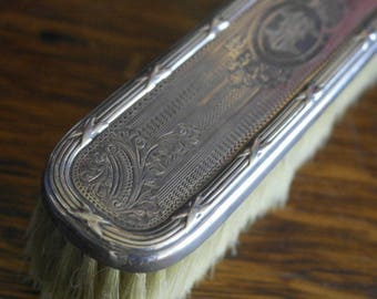 antique etched ornate sterling silver chester 1904 john and willian deakin brush