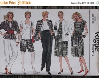 60off Sale Vogue 8617 1980s 80s  Jacket Skirt Pants Shorts Top Vintage Sewing Pattern  Size 14-16-18 Bust 36-38-40