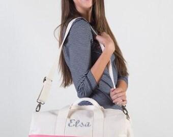 Monogrammed Canvas Duffel Bag, Personalized Duffel Bag, Personalized Travel Bag, Monogrammed Overnight Bag, Canvas Duffel Bag