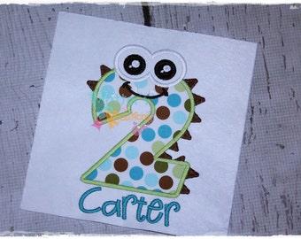 Custom Monster - Birthday - Embroidered Applique Shirt