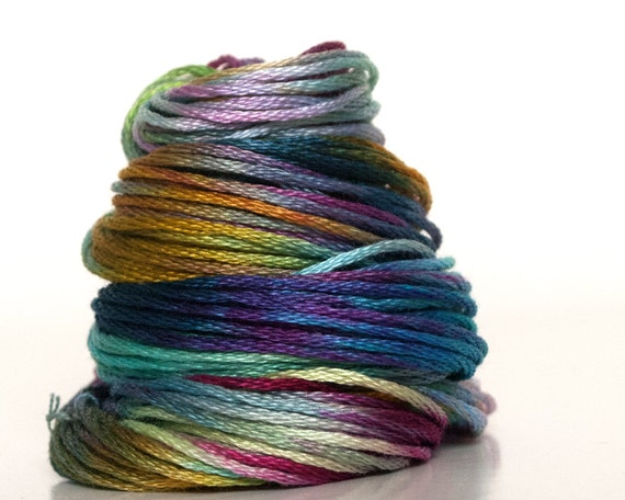 Hand Dyed Embroidery Floss Embroidery Thread Cross Stitch