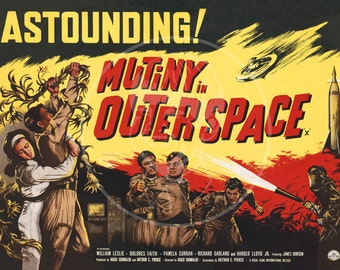 Mutiny in Outer Space - 10x13 Giclée Canvas Print of Vintage Movie Poster