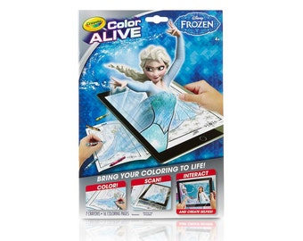 Crayola Color Alive Action Coloring Pages - Frozen