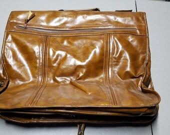 Suit Carrier Vintage Leather Bag