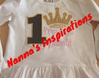 Glitter Pink gold Princess  shirt