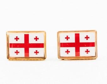 Georgian Flag Cufflinks