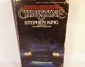 Vintage CHRISTINE Book Stephen KING - MOVIE Tie In Pictures Photographs Scenes - 1980's Paperback pb - Classic Horror Fiction Literature