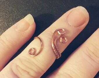 Boho Midi Ring | Copper Ring | Midi Rings | Festival Midi Ring | Copper Midi Ring | Boho Ring | Knuckle Ring | Copper Jewelry | Boho Jewelry