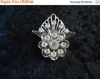 Now On Sale Vintage Rhinestone Brooch Pin ** Retro Collectible Costume Vintage Jewelry ** Mad Men Mod * 1950's 1960's Accessories