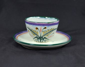 Erandi Tonala Mexico Pottery Cup and Saucer