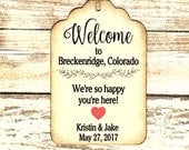 Custom listing for Leslie - 40  Welcome Bag Tags - Wedding Favor Tags- personalized custom tags