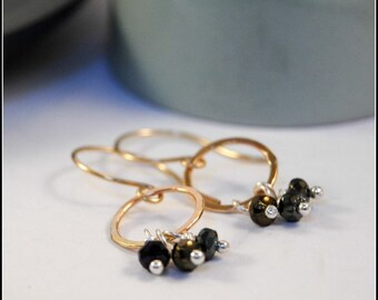 Sasha Earrings, Mixed Metals, Silver and Gold, Dangly Earrings