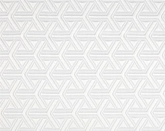 Two 26 x 26 Custom Designer Decorative Pillow Covers Euro Shams - Jacquard - Snow White