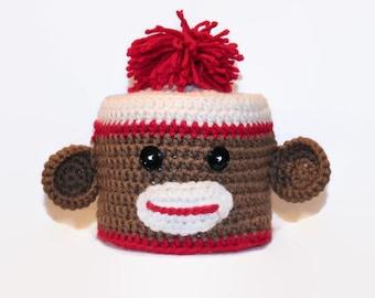 Sock Monkey Toilet Tissue Cover